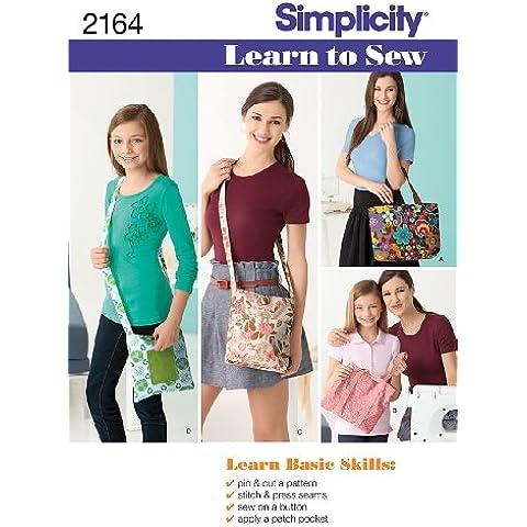 Simplicity Sewing Pattern 2164 - Cartamodello per imparare a cucire borse