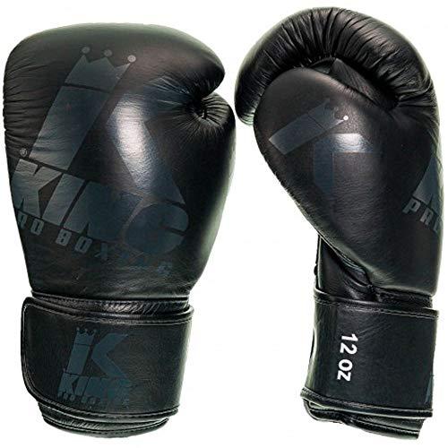 King PRO Boxing Boxhandschuhe, Platinum 1, schwarz Größe 10 Oz