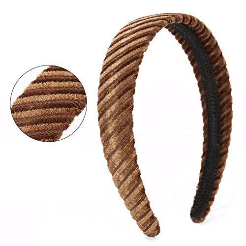 aimaoer Monochrome Haarnadel Einfaches Tuch, Süß Und Modisch Erwachsenen Kopf Hoop Haarnadel Haarnadel Haarklemme Haarschmuck, Wildleder Golden -