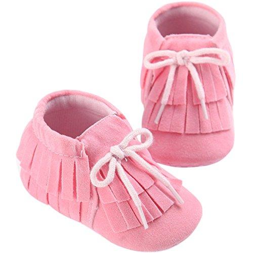 Fire Frog  Baby Sneakers, Baby Mädchen Lauflernschuhe Rose