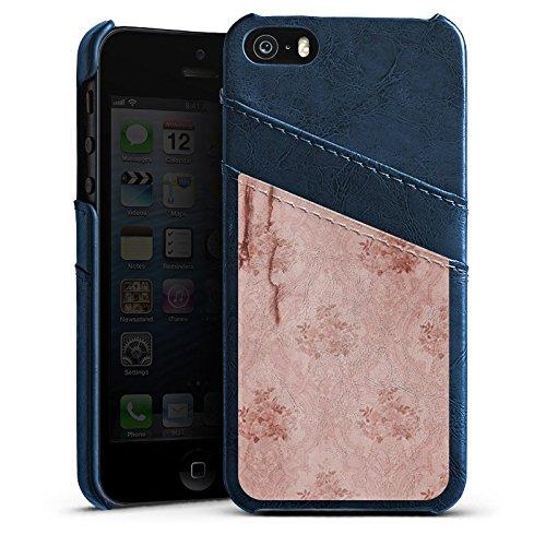 Apple iPhone 4 Housse Étui Silicone Coque Protection Mur Motif Motif Étui en cuir bleu marine