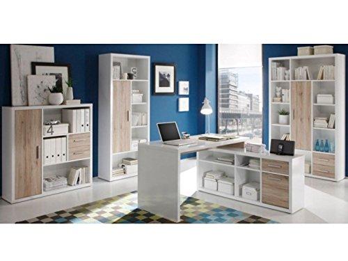 Büromöbel komplett - Eiche San Remo