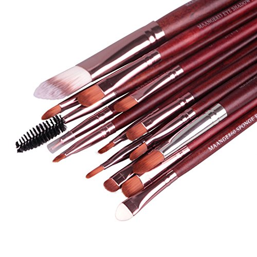 15 pcs Maquillage Cosmétique Poudre Fond de Teint Fard à paupières Mascara Lip sourcils Brosse de kit