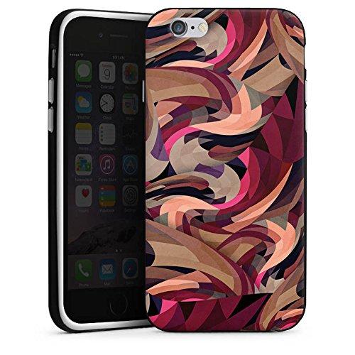 Apple iPhone X Silikon Hülle Case Schutzhülle Muster Abstrakt Modern Silikon Case schwarz / weiß