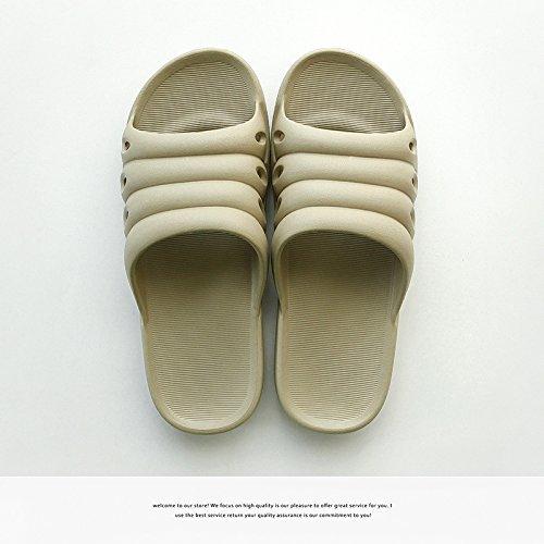 DogHaccd pantofole,Pantofole donne coppie stare al chiuso in estate una famiglia di tre bambini bambini bambino maschio anti-slittamento raffreddare bagno pantofole Brown3