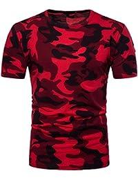 Holeider T Shirt Herren, Herren Männer T-Shirt Tops Blusen Sommer Camouflage Rundhals Pullover Drucken Casual Mode 2018