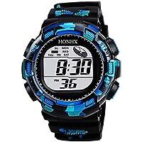 BIBOKAOKE Reloj de Actividad Inteligente Pantalla LED Relojes Fecha Al Aire Libre Deportivo LED Digital Watch Clásico Smartwatch