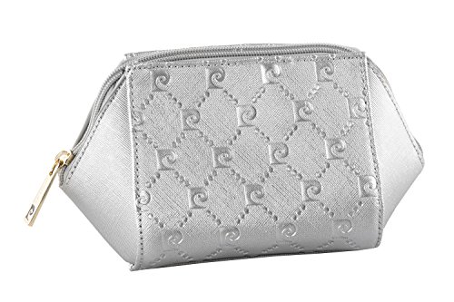 Beauty borsa porta cosmetici PIERRE CARDIN pochette porta trucco argento T390