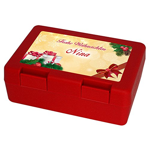 Keksdose zu Weihnachten mit Namen Nina und schönem Motiv 4