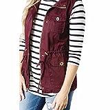 ABsoar Mantel Damen Weste Outdoor Weste mit Kapuze und Stehkragen Leichte, Elastische Stretch-Jacke für Damen mit Reißverschluss