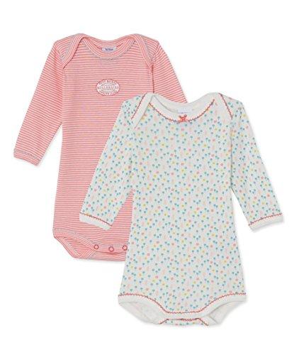 Petit Bateau Baby-Mädchen 2P Body ML, 2er Pack, Mehrfarbig (Special Lot 00), 62 (Herstellergröße: 3m/60cm)