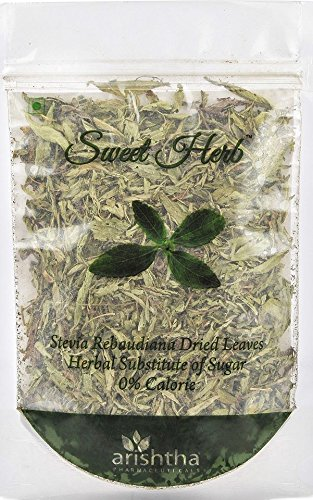 Sweetherb Stevia Dry Leaves - Natural & Zero Calorie Sweetener - Stevia Sugar - Herbal sugar-free (25gm)  available at amazon for Rs.49