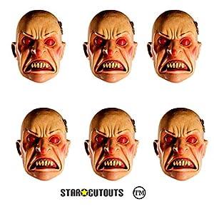 Star Cutouts-stsmp106-6máscaras para Adulto Smiler-Doctor Who-Talla única