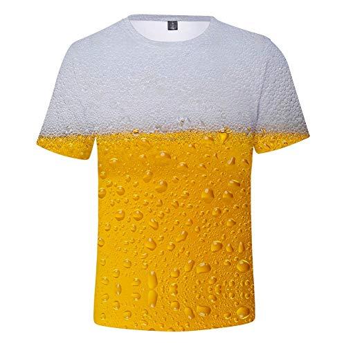 MAYOGO Oktoberfest Herren Hemd Baumwolle 3D Druck Tshirt Herren Karneval Bier Drucken T Shirts Männer Oktoberfest Kostüm Trägershirt Herren Baumwolle Oberteile Tops 3-D T-Shirt -