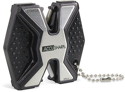 AccuSharp Messerschärfer Sharp and Easy Diamant Pro Rutschfester, Silber, ACCU-017C
