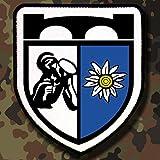 Patch / Aufnäher -GebirgsPionierBataillon 8 Aufnäher Bundeswehr Deutschland GebJgPiBtl 8 Militär Heer Wappen Abzeichen Einheit Gebirgsjäger #12416