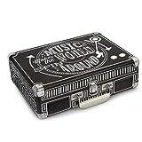 Crosley Cruiser Chalkboard Turntable Tragbarer Schallplattenspieler imAktenkoffer Design mit EU Netzstecker - Schwarz