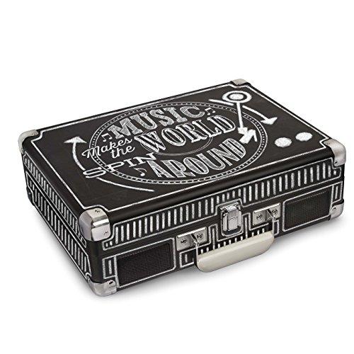 Crosley Cruiser Deluxe Chalkboard Schallplattenspieler, Schwarz