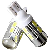 Cloudsale T10 LED Parking Bulb or Pilot Light White High Power Projector LED Set of 2 (White)