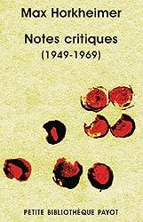 Notes critiques (1949-1969) : Sur le temps présent