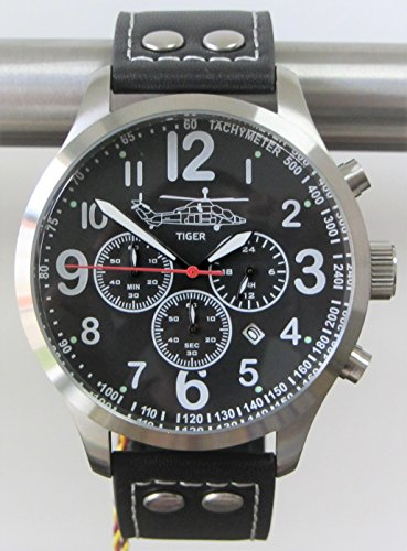 Tiger Aviator Chrono Armbanduhr inklusive Samt-Geschenkbox - Sonderedition