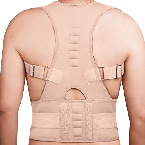 Magnetische Schulter Brace (Sentik® Verstellbarer Magnetischer Haltung Corrector Zurück Brace für herren und damen Körperhaltung Korrektur Schulter Lendenwirbelstütze atmungsaktiv Rückenschmerzen Gurtband)