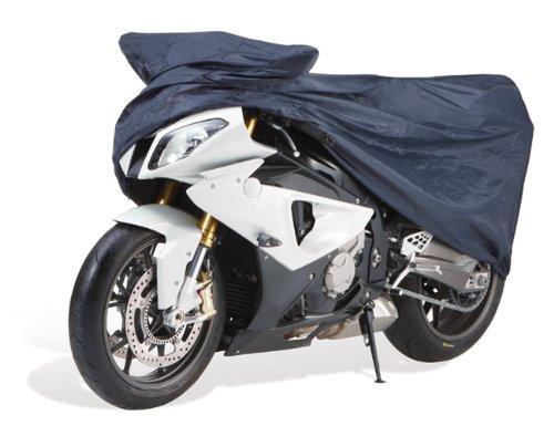 Cartrend Motorrad-Garage wetterfest, Größe M, Polyester blau
