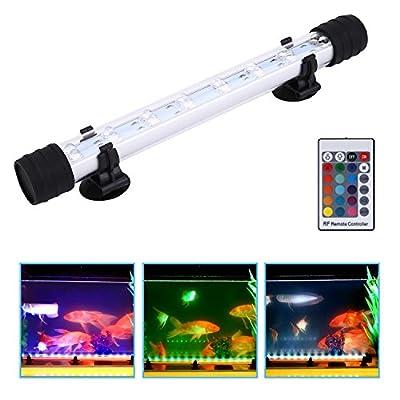 nonmon éclairage de l'aquarium RVB LED Bande avec lentille condensateur éclairage sous-marine étanche pour baignoire des poissons avec télécommande