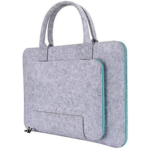 HeavFYj Filz-Laptoptasche/Notebooktasche für MacBook Air Pro Tablet grau grau 17 inch - Codi-laptop-tasche