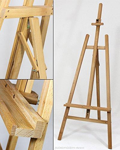 Staffelei COMO aus Buchenholz (FSC®-zertifiziert), Keilrahmen bis 130cm, Höhe bis 230 cm, Qualität vom Fachhändler