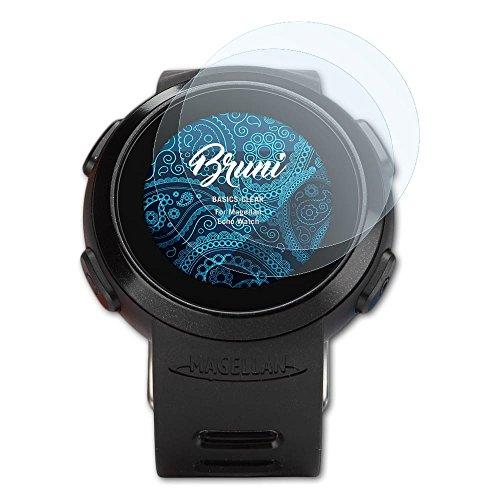 Bruni Schutzfolie kompatibel mit Magellan Echo Watch Folie, glasklare Displayschutzfolie (2X)