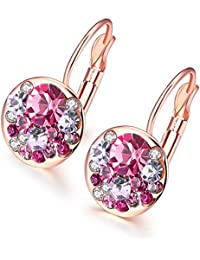 d3af120e5 YELLOW CHIMES Crystal based Radiant Clip on Earring for Women and Girls