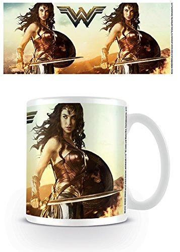Pyramid International Wonder Woman (Fierce) Oficial en Caja de cerámica café/té Taza, Papel,, 11x 11x 1,3cm
