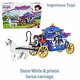 Ingenious Toys #1101 Snow White princess carriage - 170pcs compatible building bricks construction set