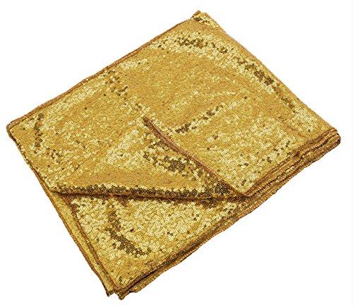 Silber/Gold Pailletten Tischläufer für Hochzeit/Event / Party/Bankett / Weihnachten Hochzeit Tischdekoration (30 cm x 275 cm) - Gold