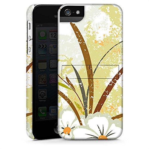 Apple iPhone X Silikon Hülle Case Schutzhülle Flower Grün Muster Premium Case StandUp