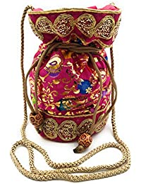 02b172ac3e Cassidile™ Ethnic Silk Clutch Potli Batwa Pouch Bag with Embroidery Work  Gift for Women