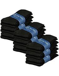 Lavazio® 6 Paar warme und kuschlige Damen Thermosocken uni schwarz