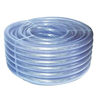 Clear Braided Hose PVC 10mm (3/8) 30 Metre Coil Water, Air Compressor, Chemical, Sewage, Pump by A 1 Plant Sales
