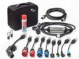 Juice Booster 2 Cargador Portátil Coches - 22kW, 32A, Trifasico, Monofásico, Tipo 2, emobility | Master Traveller Set | 9X Adaptadores y Alargador