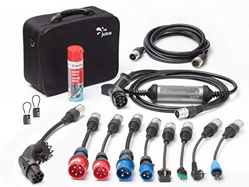 Juice Booster 2 Mobile 22kW Ladestation Wallbox mit Ladekabel - 32A 3-Phasig, 1-Phasig Typ 2 AC   Master Traveller Set   IEC 62752, IP67, FI A und FI B Ac Booster