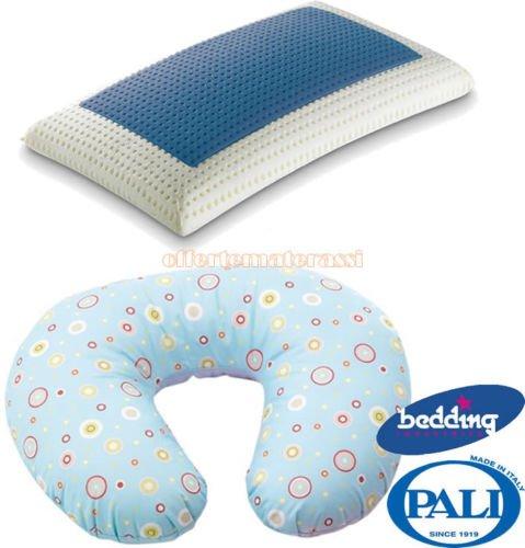 Cuscino allattamento Pali Mamy Azzurro + Bedding Blue Classic saponetta memory