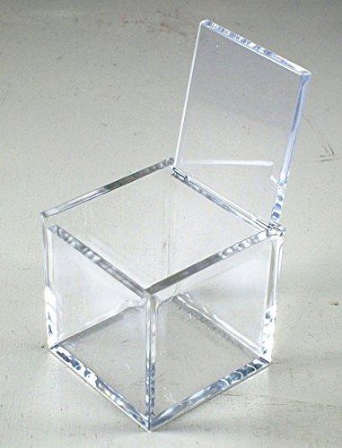 Irpot - 2 x scatola portaconfetti in plexiglass trasparente a cubo