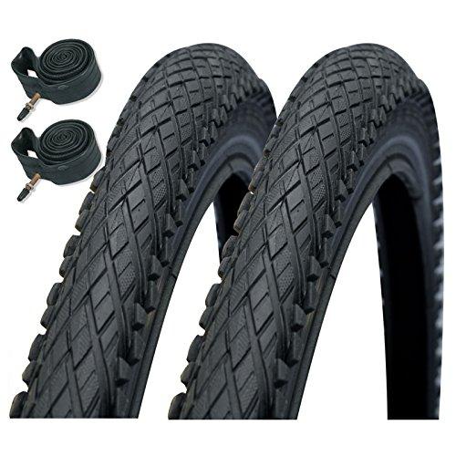 "Schwalbe Impac Crosspac 26\"" x 2.0 Mountain Bike Tyres with Presta Tubes (Pair)"