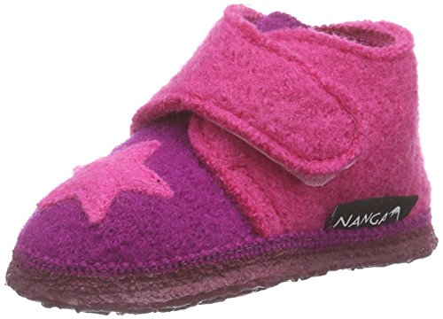 Nanga Stern, Chaussons premiers pas mixte bébé Rose - Pink (Beere 26)