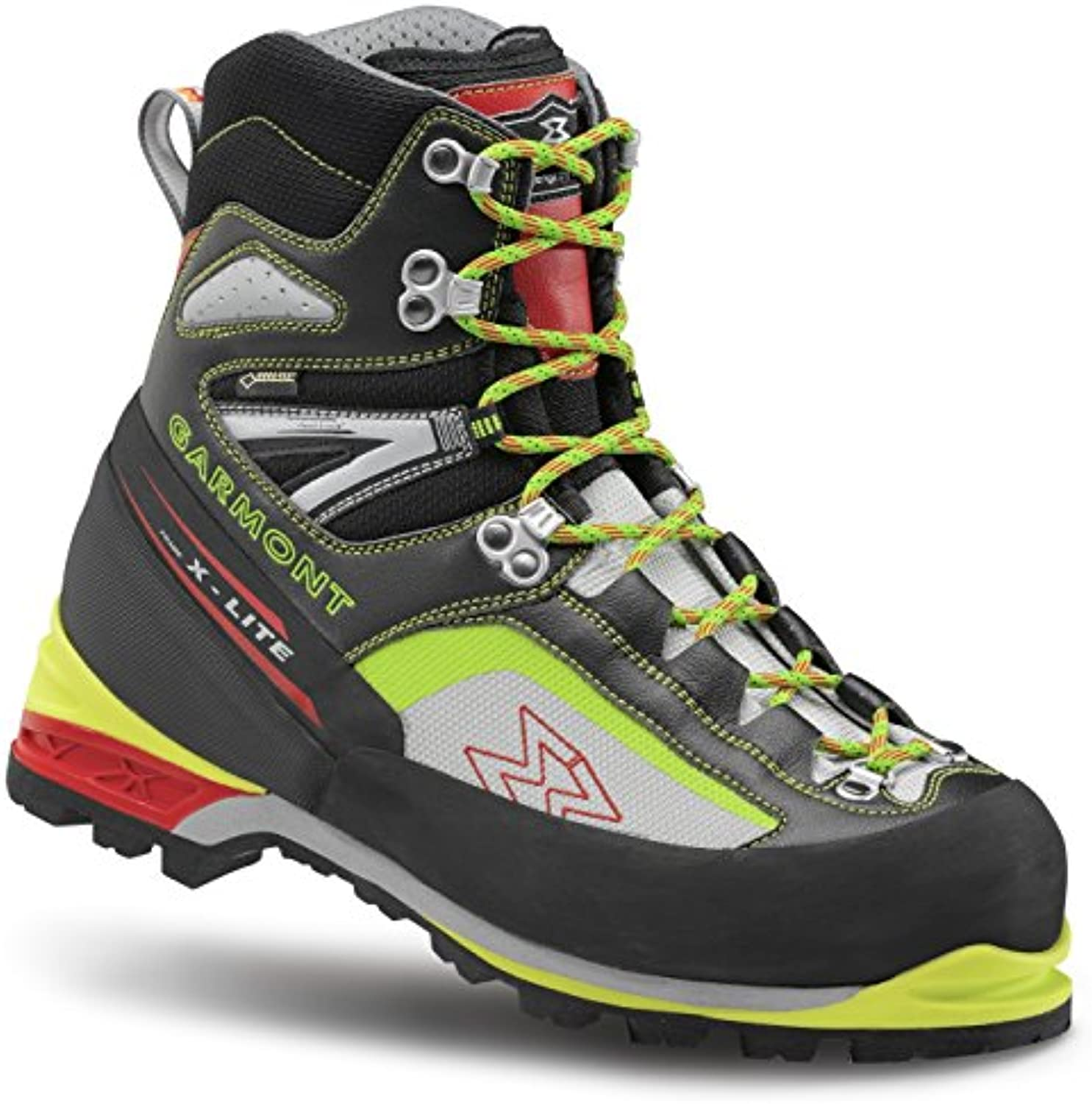 Garmont Icon Plus GTX Mountaineer Boots Men Black/Acid Green Größe UK 11 | EU 46 2018 Schuhe