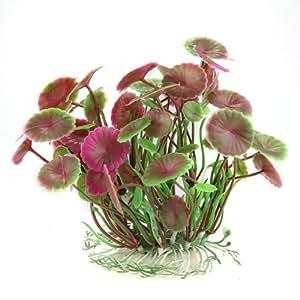 toogoo r runde lotusaquarienpflanze kuenstliche kunststoff pflanze fuer aquarium. Black Bedroom Furniture Sets. Home Design Ideas