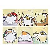 Yofo Cute Cartoon Eggshell Sticky Notes Memo Pad Sticky Note Lesezeichen Schule Büro Netzteil (zufällige Lieferung)