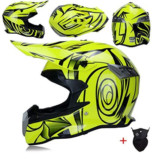 Erwachsene professionelle Motocross Helme Belüftung Hochleistungs-Unisex-Gewebe Soft Racing Schutzkappen Leichtes Motorrad Off Road Fahrradhelm 54-61cm