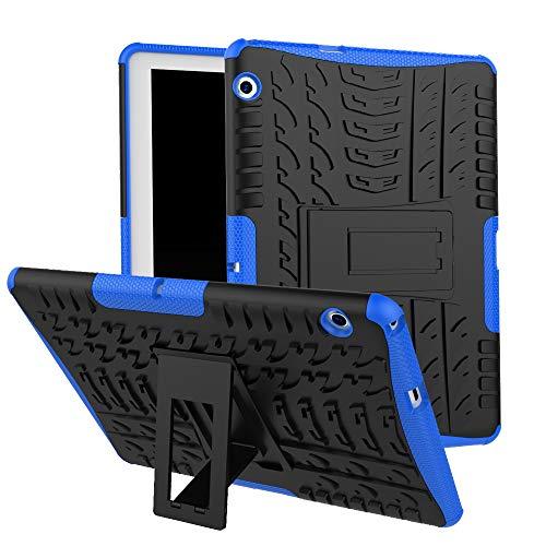 HUUH Funda Huawei MediaPad T5 10,TPU + PC 2-en-1 de Doble Capa de protección, diseño de Bolsa de Aire de Cuatro Esquinas, Soporte Oculto, Adecuado para Huawei MediaPad T5 10.0 Pulgadas(Azul)
